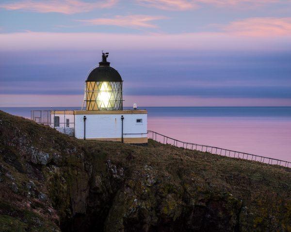 St Abbs Head lighthouse sunset