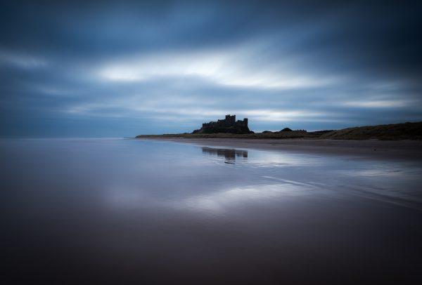 bamburgh castle dawn sunrise long exposure