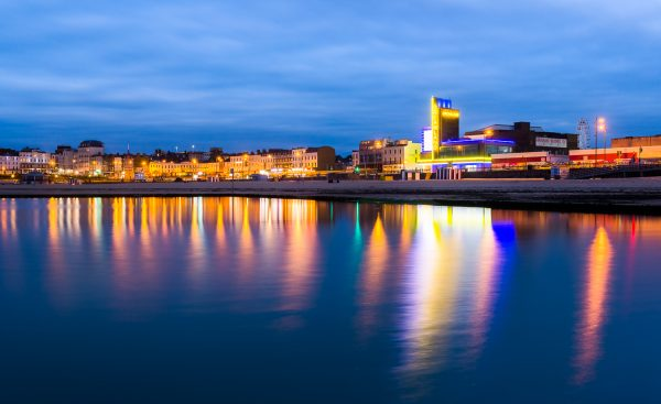 Margate seafront and Dreamland reflections