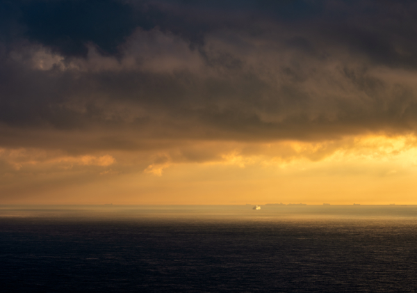 sunrise from the white cliffs of dover