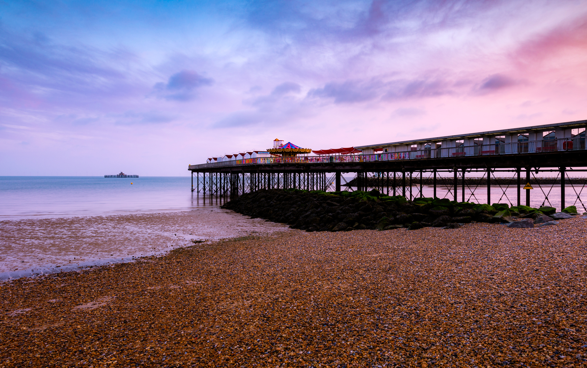 sunrise at herne bay pier