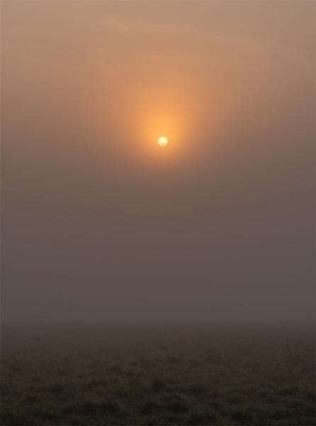 sunrise on a foggy morning in canterbury