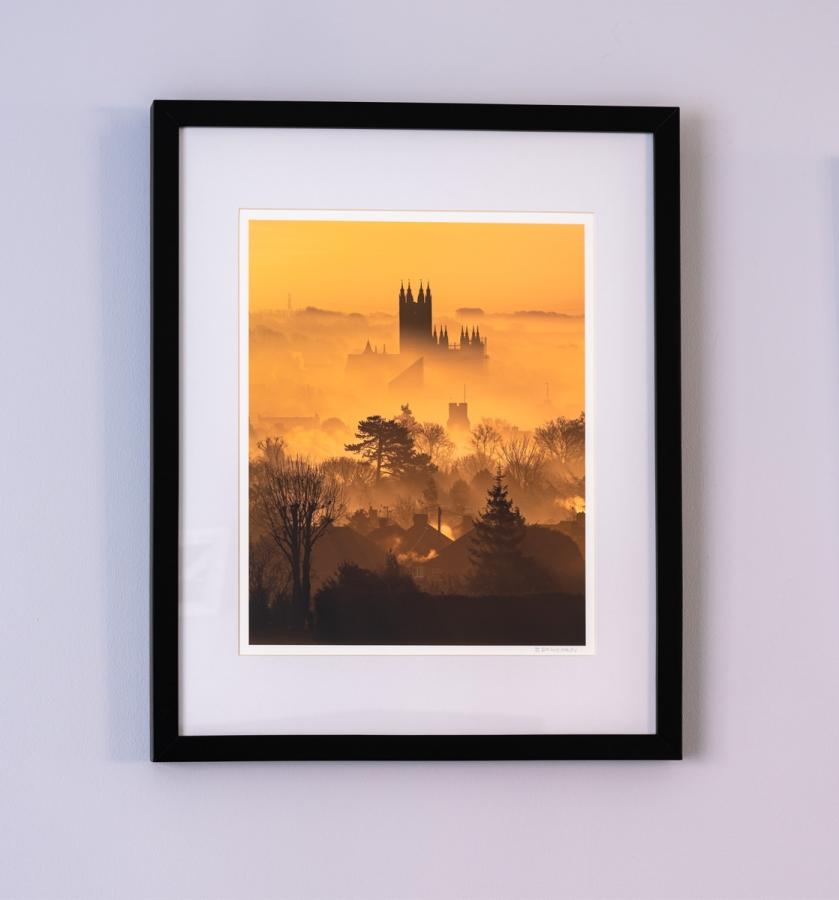 framed fine art print of canterbury cathedral by stewart mckeown